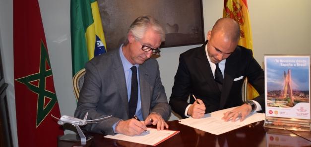 Coquetel para comemorar a incorporação da Royal Air Maroc à CCBC como sócio-protetor