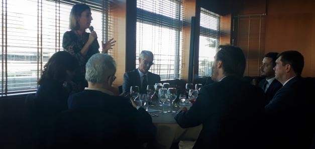 Almoço com Conselheira de Empresa e Conhecimento do Governo da Catalunha